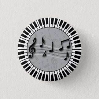 Kreisklavierschlüssel mit Mitte der musikalischen Runder Button 3,2 Cm