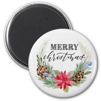 """Kreismagnet """"der frohen Weihnachten"""", Runder Magnet 5,7 Cm"""