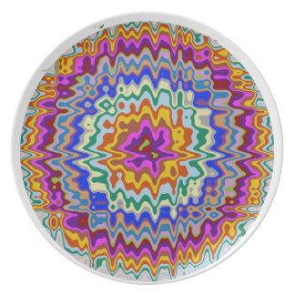 Kreisregenbogenwellen Flache Teller