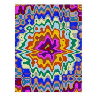 Kreisregenbogenwellen Postkarte