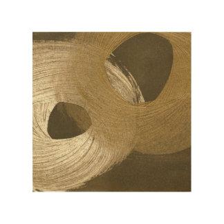 KreisSandsturm in TAN und in dunklem Brown Holzleinwand