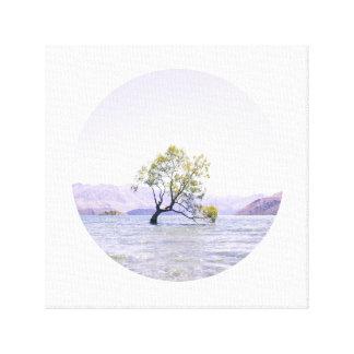KreisWanaka Baum Leinwanddruck