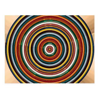 Kreiswelle prägeartige bunte Streifen-Party Postkarten