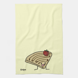 Krepp-pastenartige Erdbeernachtisch-Schokolade Handtuch