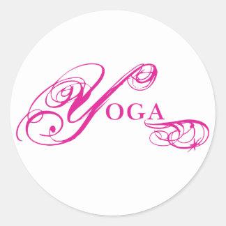 Kresday Aufflackern-Yoga Runde Aufkleber