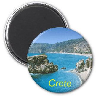 Kreta-Magnet Runder Magnet 5,7 Cm