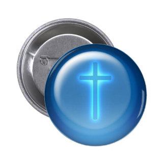 Kreuz - christliche Verzierung Runder Button 5,1 Cm