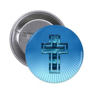 Kreuz - christlicher Knopf Runder Button 5,1 Cm