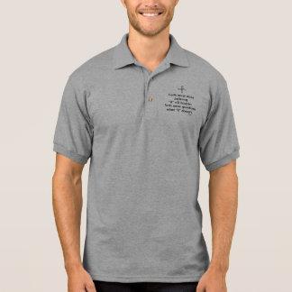 Kreuz des Glauben-nie männliches Polo Shirt
