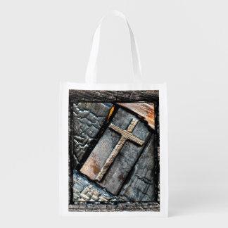 Kreuz des Schutzes Wiederverwendbare Einkaufstasche