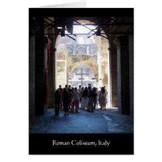 Kreuz im römischen Kolosseum, Italien Karte