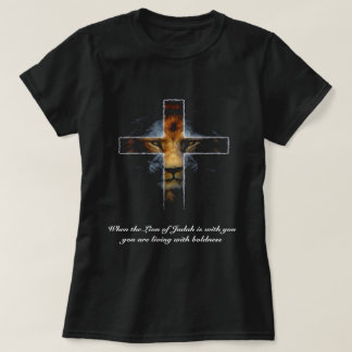 Kreuz - Jesus als der Löwe von Judah T-Shirt