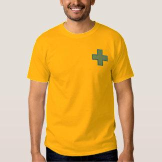 Kreuz mit Hintergrund Besticktes T-Shirt