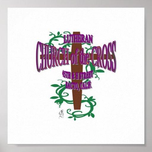 Kreuz mit Reben Plakate