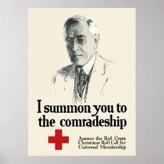 Kreuz-Plakat Woodrow Wison Poster