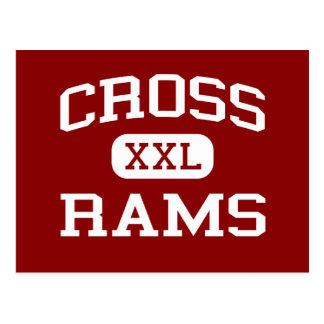 Kreuz - RAMs - Sekundarschule - Tucson Arizona Postkarte