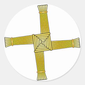 Kreuz St. Brigids Runder Aufkleber
