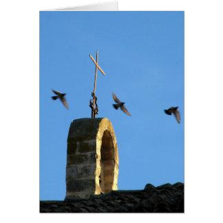 Kreuz-und drei Vogel-Karte Grußkarte