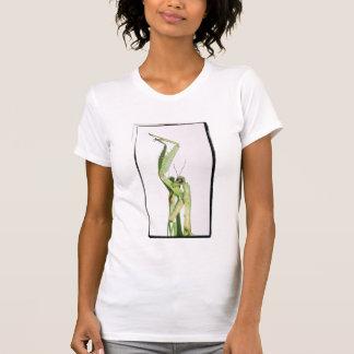 Kreuz verarbeiteter betender Mantis durch KLM T-Shirt