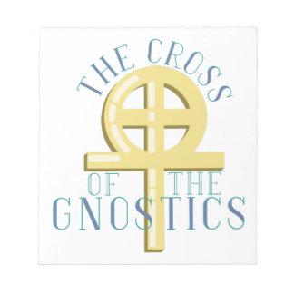 Kreuz von Gnostics Notizblock