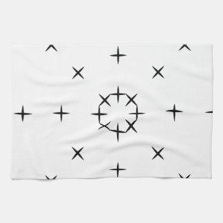 Kreuz, X, Luke, Ticken-Reißnagel-Zehe-Muster Handtuch