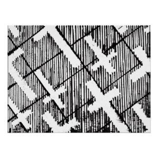 Kreuze kopieren Schwarzweiss-Goth Vorlagen-Kunst Poster