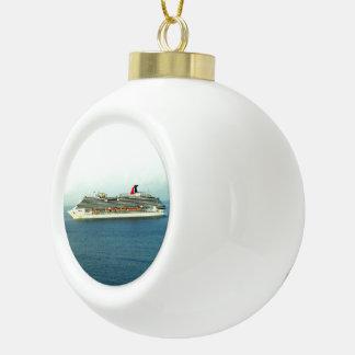 Kreuzen die Tropen Keramik Kugel-Ornament