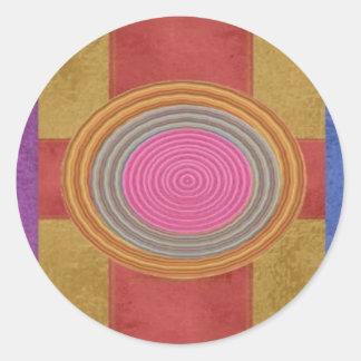 KREUZEN Sie Ihr Herz - Art101 einfache Kreise der Runder Aufkleber
