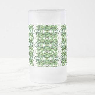 Kreuzende grüne Linien Tasse