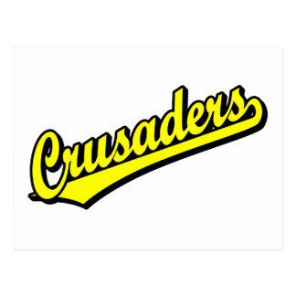 Kreuzfahrer im Gelb Postkarte