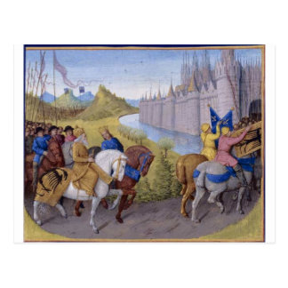 Kreuzfahrer kamen in Konstantinopele an Postkarte