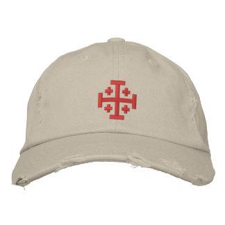 Kreuzfahrer-Kreuz - Gewohnheit beunruhigte Bestickte Kappe