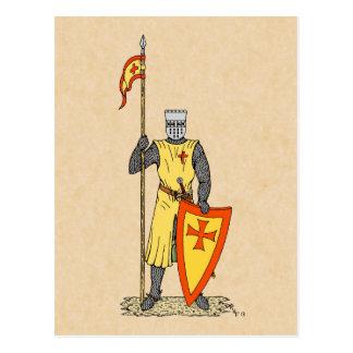 Kreuzfahrer-Ritter, Anfang des 13. Jahrhunderts Postkarte