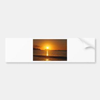 Kreuzfahrt am Sonnenuntergang Autoaufkleber