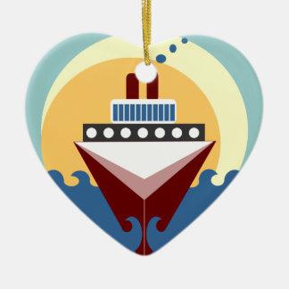 Kreuzfahrt-Schiff, das personalisierte Keramik Ornament