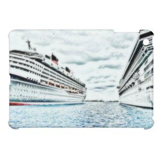 Kreuzfahrt-Schiffe im Hafen, der | nautisch iPad Mini Hülle