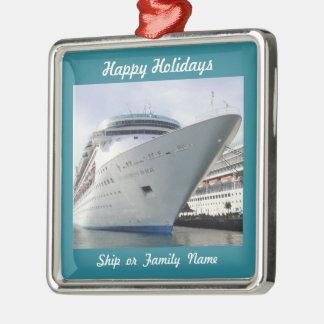 Kreuzfahrt-Schiffs-Bogen-Foto kundengerecht Silbernes Ornament