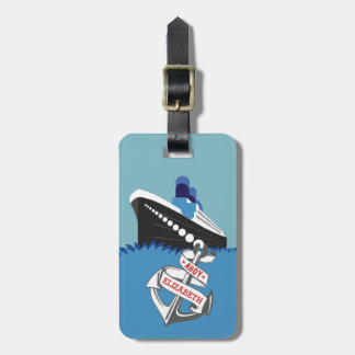 Kreuzfahrt-Schiffs-personalisierte Reise Gepäckanhänger