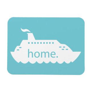 Kreuzfahrt-Schiffs-Zuhause - Blau Magnet