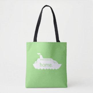 Kreuzfahrt-Schiffs-Zuhause - Grün Tasche
