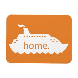 Kreuzfahrt-Schiffs-Zuhause - Orange Magnet