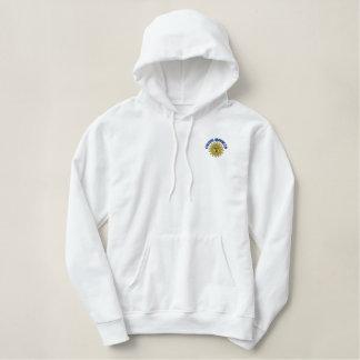 Kreuzfahrt-Süchtig-Damen-Jacken-Pullover-Weiß Bestickter Hoodie
