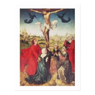 Kreuzigung, c.1510 (Öl auf Platte) Postkarte