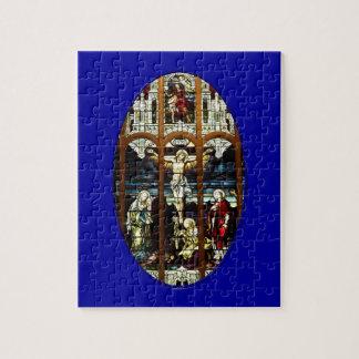 Kreuzigung des Jesus-Buntglasfensters Puzzle