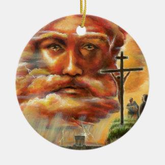 Kreuzigung, Karfreitag Keramik Ornament