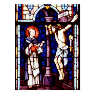 Kreuzigung von Jesus - Buntglasfenster Postkarte