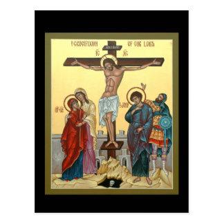 Kreuzigungs-Gebets-Karte Postkarte
