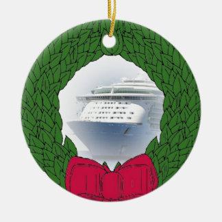 Kreuzschiff-datierte Weihnachtsverzierung Keramik Ornament