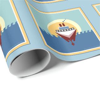 Kreuzschiff-Geschenk-Packpapier Geschenkpapier
