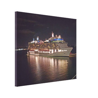 Kreuzschiff-Nachtphotographie Leinwanddruck